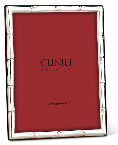 Cunill Bamboo 8x10 Non-Tarnish Sterling Silver Picture Frame