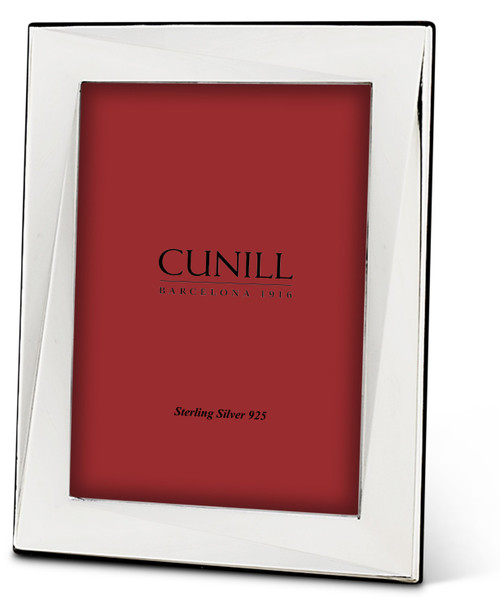 Cunill Contrast 5x7 Non-Tarnish Sterling Silver Picture Frame