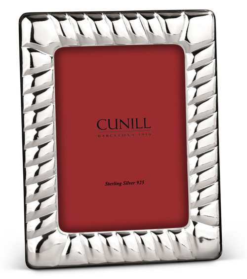 Cunill Bloque 4x6 Non-Tarnish Sterling Silver Picture Frame