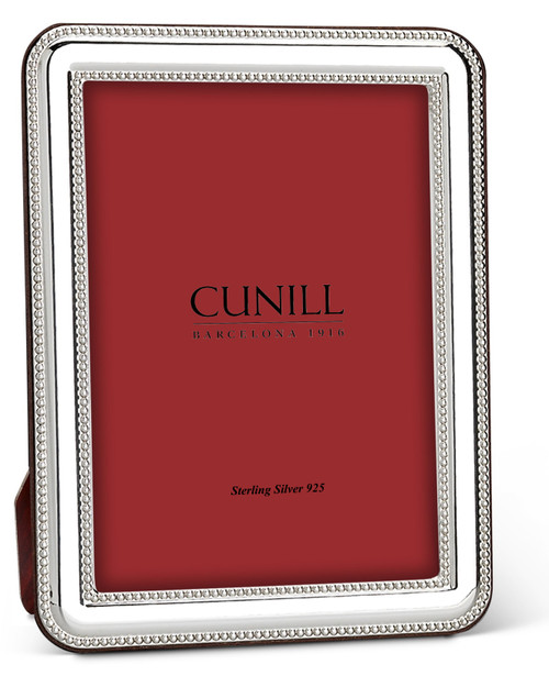 Cunill Beaded 5x7 Sterling Silver Picture Frame