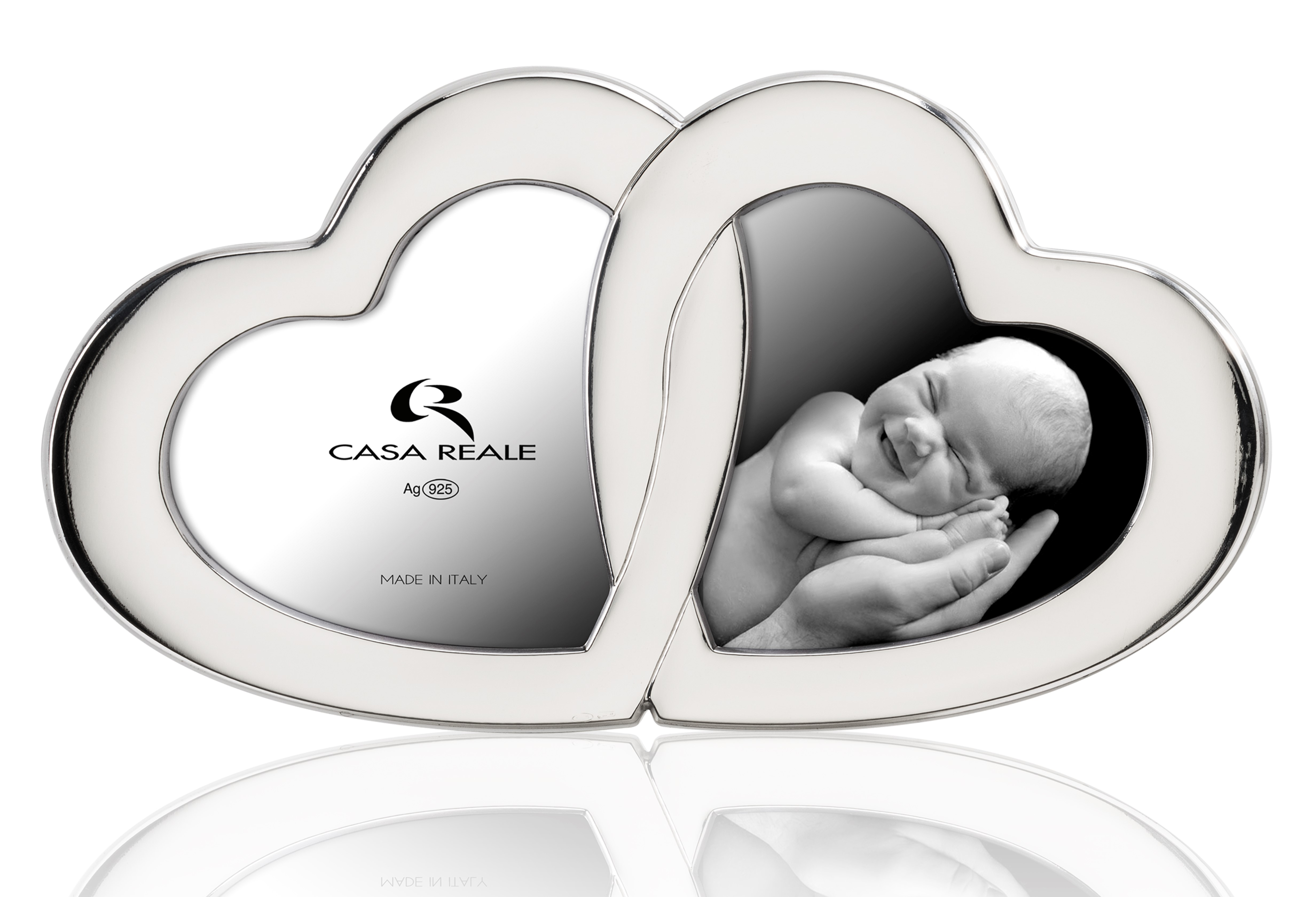 Casa Reale 'Double Heart' Sterling Picture Frame