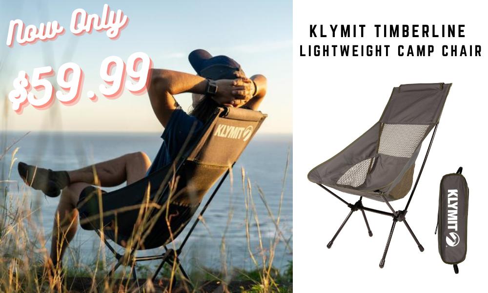 Klymit Timberline Chair Canada Peak Camping