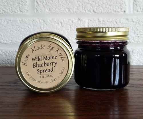Wild Maine Blueberry Spread is a lower sugar fruit spread packed with whole berries! Maine Blueberries are high in antioxidants and a punch of flavor- you wont even miss the sugar.