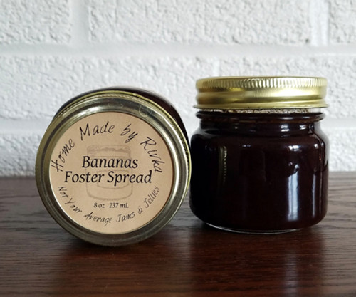 A Home Made by Rivka favorite that is low on sugar but not flavor; our Bananas Foster Spread is based on the famous New Orleans dessert. This unique spread is truly something special, and has the southern charm to prove it!