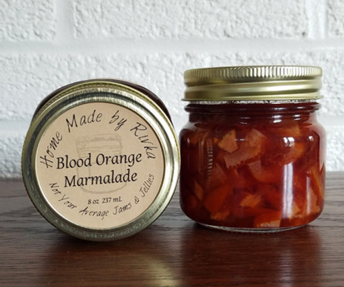 Our Blood Orange Marmalade is always a burst of citrus in winter. This specialty orange marmalade breaks from tradition by using blood oranges, which have a wider range of flavor compared to a class orange marmalade.
