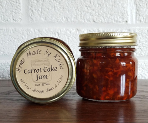 Our Carrot Cake Jam is easily one of our most unique jams. When treated as a sweet jam it can turn any breakfast into dessert, or pair it with pork as a glaze for a savory dinner staple.