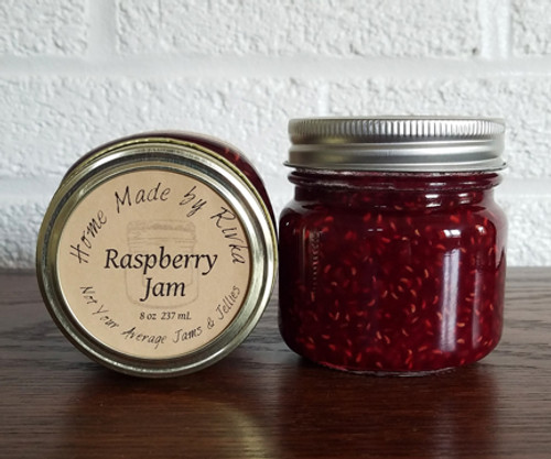A traditional summer fruit; our Raspberry Jam is filled with sweet, flavorful raspberries. This jam is minimally processed and does have seeds.