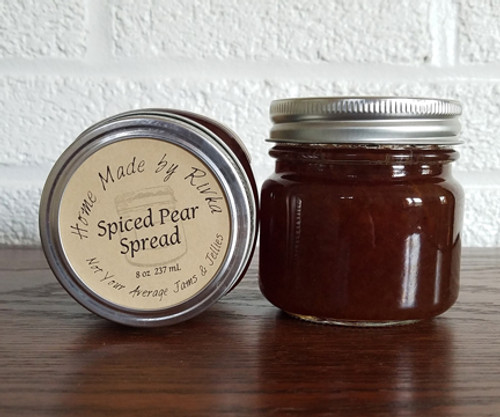 Spiced Pear Spread is the definition of fall and winter flavors. Spiced with cinnamon; this low sugar spread is both sweet and savory, and perfect on pork.