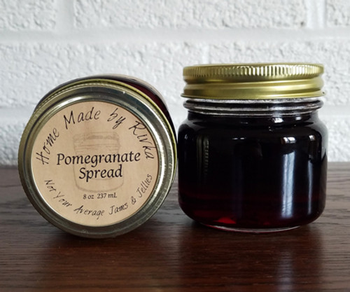 A truly fall flavor; our Pomegranate Spread is a low sugar, savory spread. Its uniquely tangy and lends itself well to cheese and yogurt pairings.