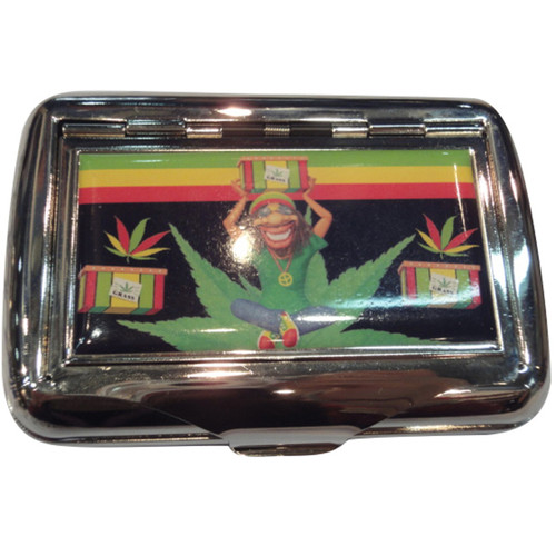 #100 Tobacco Tin - Rasta Leaf