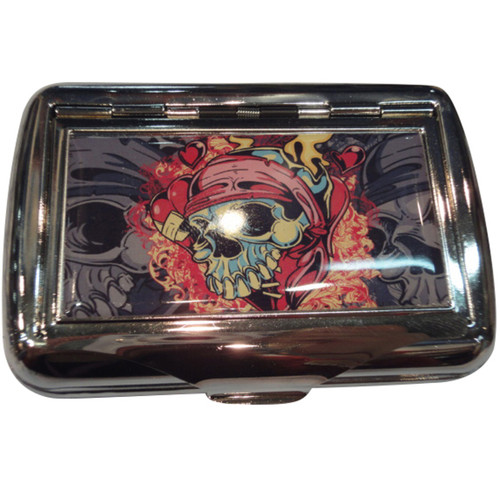 #100 Tobacco Tin - Skull