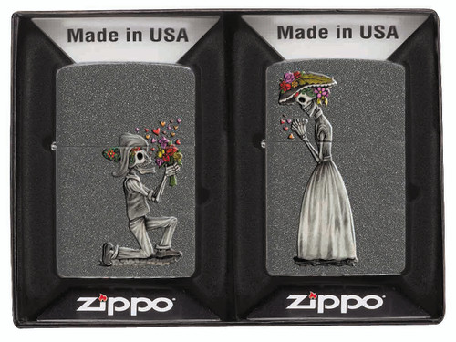 Day of the Dead Iron Stone 2 Lighter Gift Set