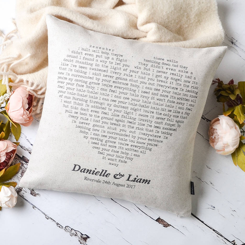 Personalised Song Cushion, ideal wedding or anniversary gift