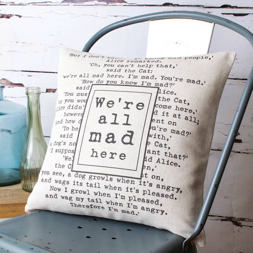 Personalised Favourite Quote Lyrics Cushion
