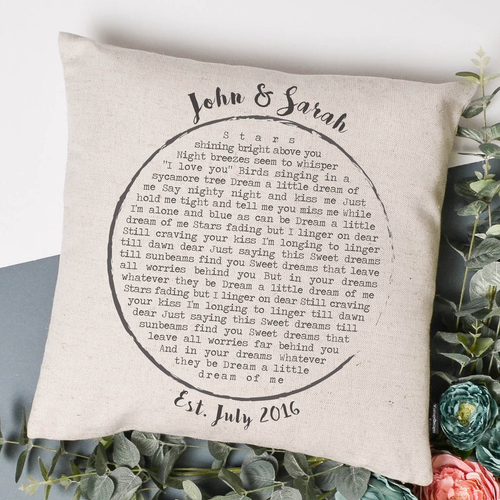 Personalised Lyrics Cushion