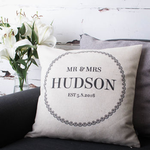 'Mr And Mrs' Cushion