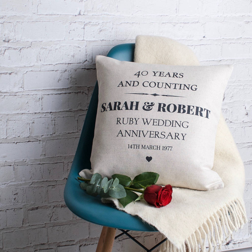Ruby Wedding Anniversary Cushion