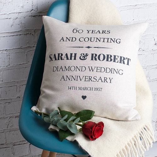 Diamond Wedding Anniversary Cushion