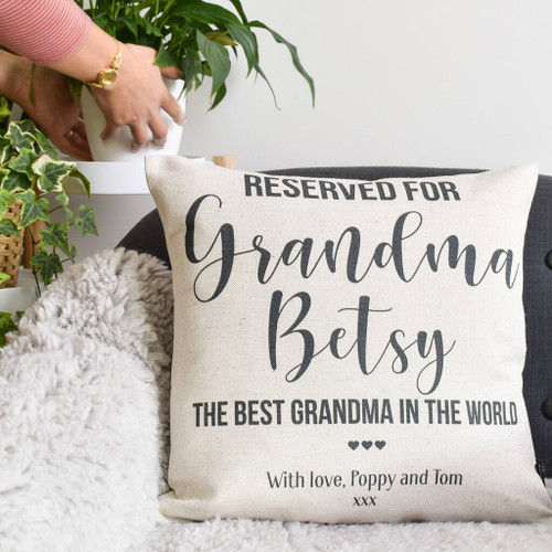 Reserved For Granny Personalised Cushion