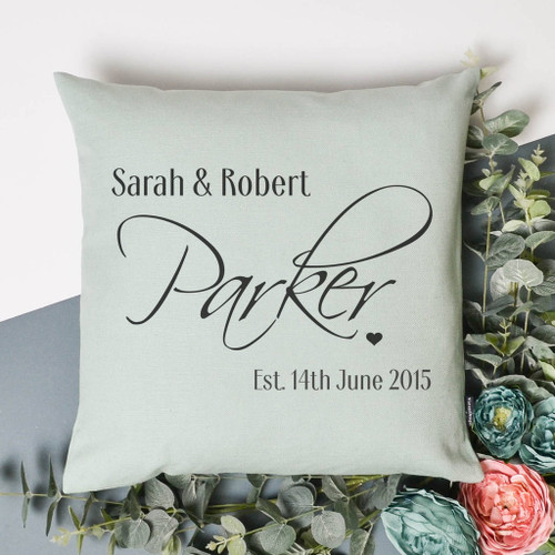 Personalised Wedding Anniversary Cushion