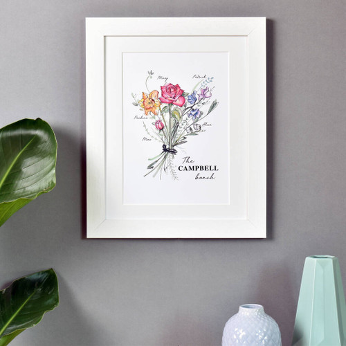 Family Birth Month Flower Print