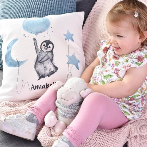First Christmas Penguin Cushion