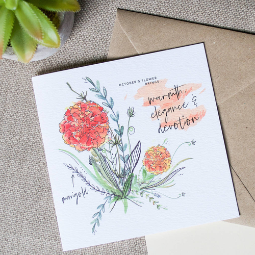 Birth Month Flower Card