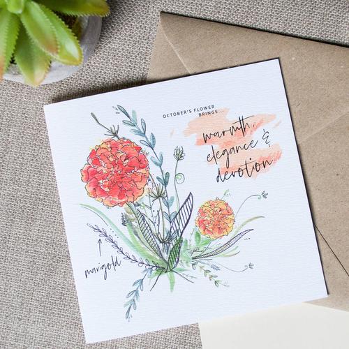 Birth Month Flower Card