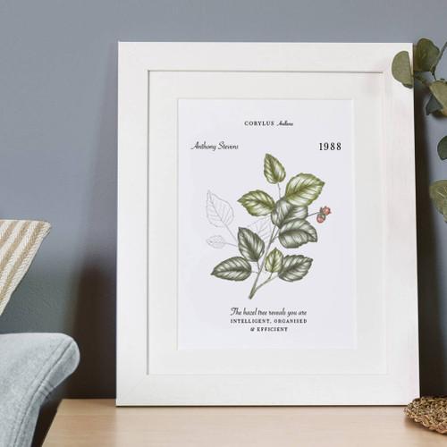 Personalised Birthday Botanical Print