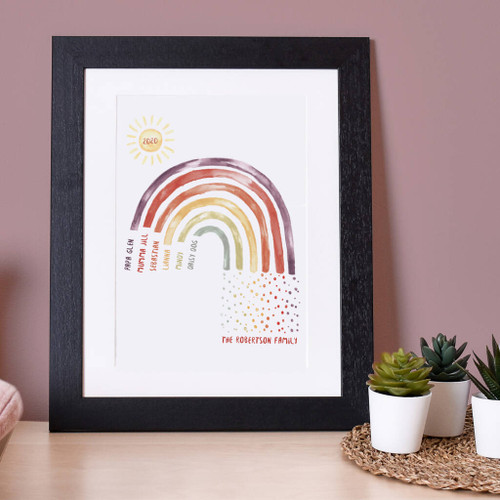 Personalised Family Rainbow Print