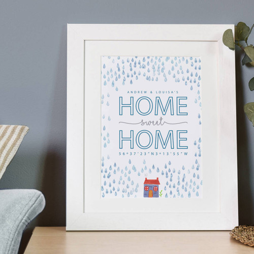 Personalised Home Sweet Home Coordinates Print