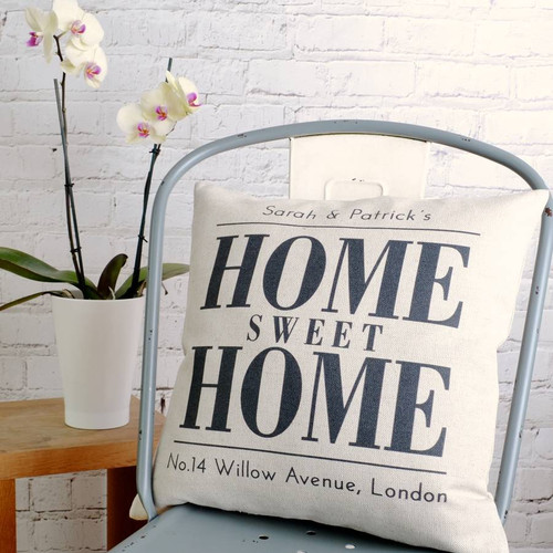 Personalised 'Home Sweet Home' Cushion