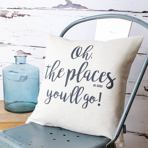 'Oh, The Places You'll Go' Dr Seuss Cushion