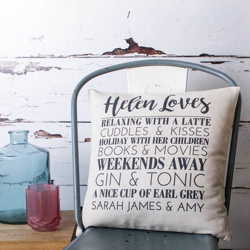 Personalised 'Loves' Cushion