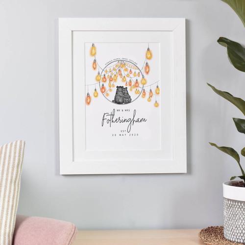 Personalised Couple Wedding Print