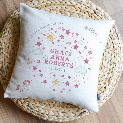 Personalised Kids Name Cushion