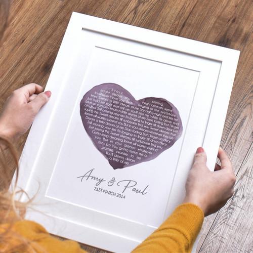 Personalised Wedding Song Print