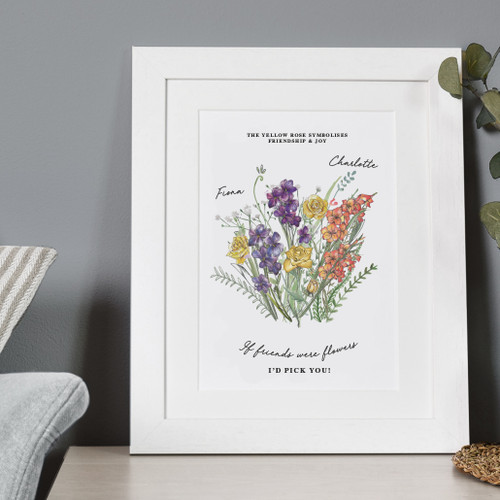 Friendship Birth Month Flower Print