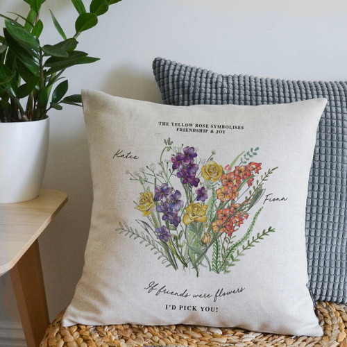 Friendship Birth Month Flower Cushion