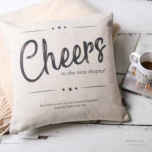 Cheers Retirement Personalised Cushion