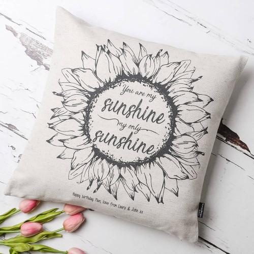 You Are My Sunshine Personalised Cushion
