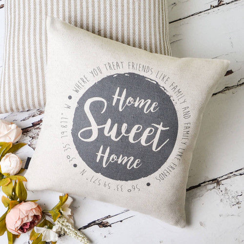 Home Sweet Home Location Cushion
