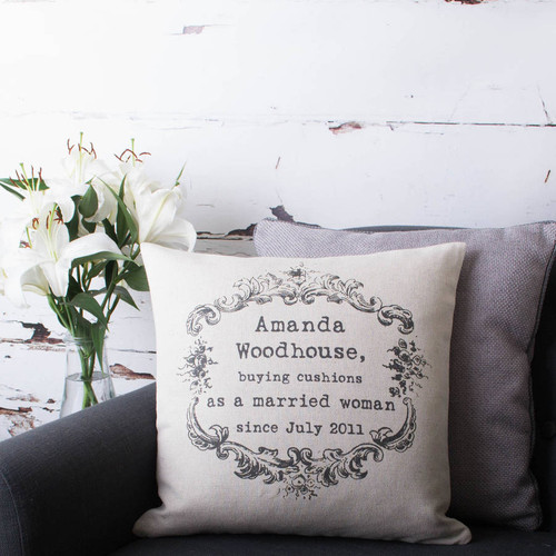 Vintage Style Personalised Cushion