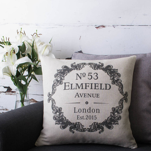 Personalised New Home Cushion Cover