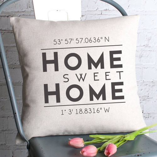 Personalised Coordinates Cushion Cover