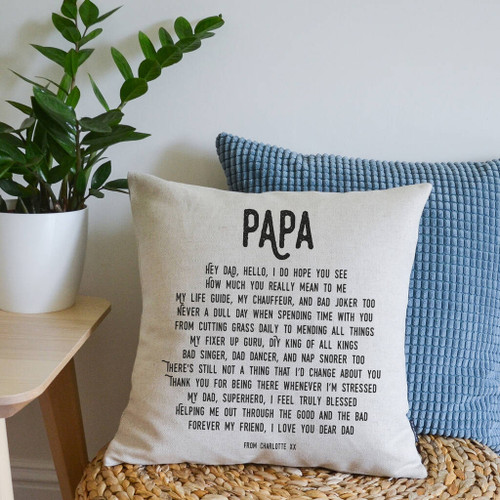 Personalised Dad Poem Cushion
