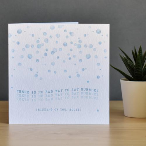 Bubbles positivity watercolour card