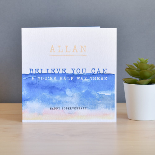 'Believe You Can' Personalised Card