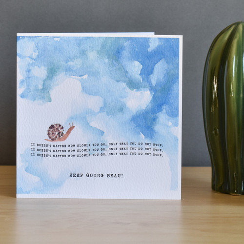 Personalised Motivation Snail Card
