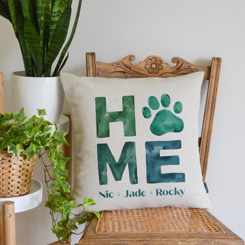 Green Personalised Pet Cushion